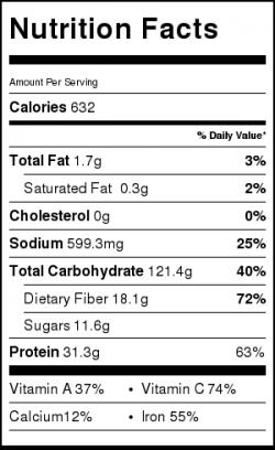 Lentil Shephard Pie Nutrition