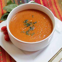 Tomato Coconut Yam Soup