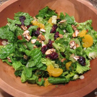 Orange Almond Salad with Cranberries