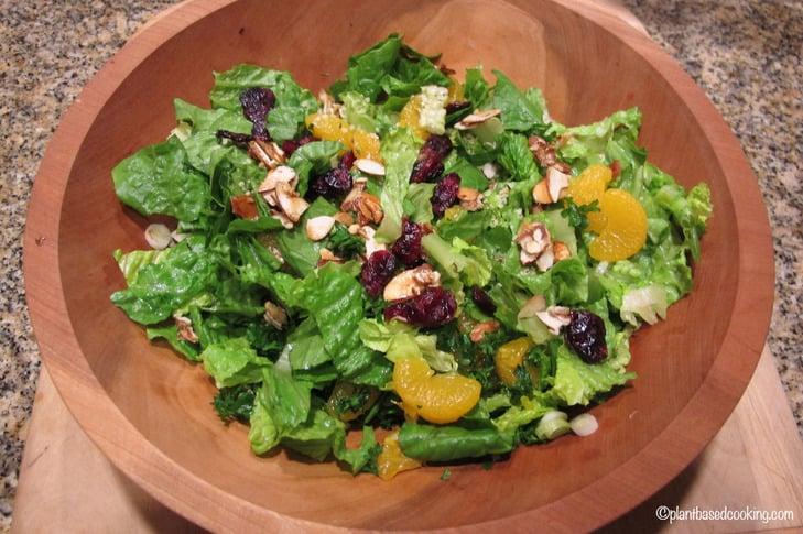 Orange Almond Salad with Cranberries