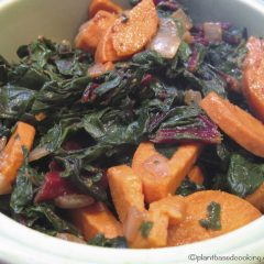 Warm Yam and Swiss Chard Salad