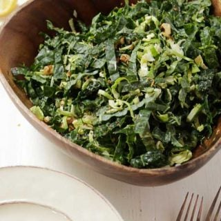 Kale Brussels Sprouts Salad