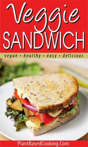plant-based veggie sandwich