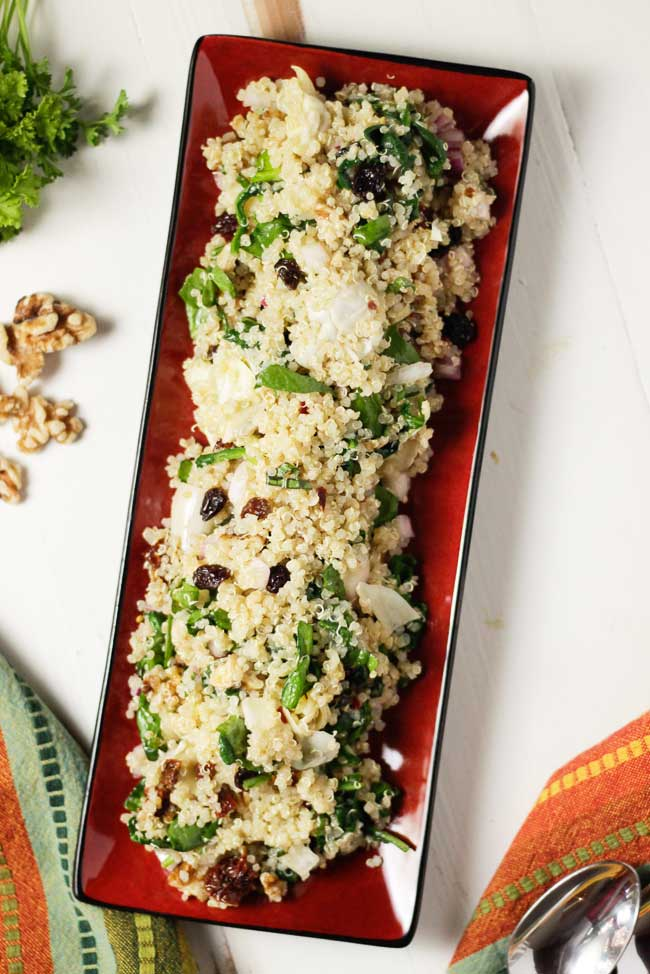 Quinoa Salad with Spinach