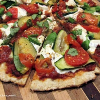 Grilled Margherita Pizza