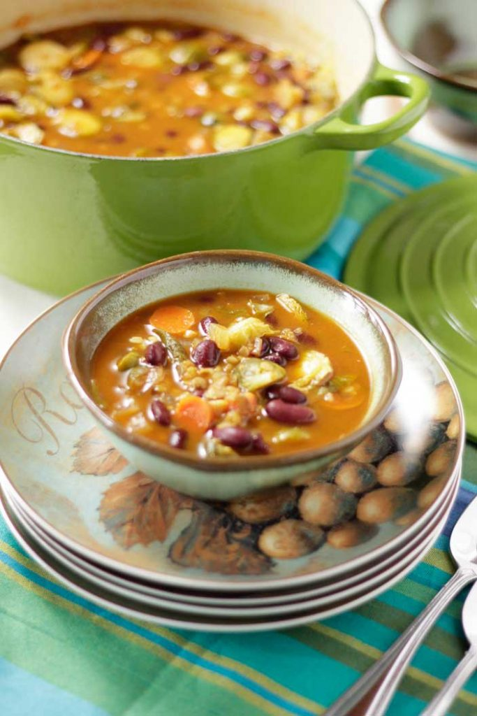 Tomato Brussels Sprout Soup