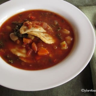 Vegetable Soup with Ravioli