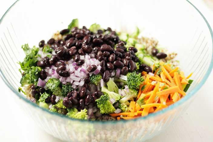 Quinoa Salad Peanut Dressing