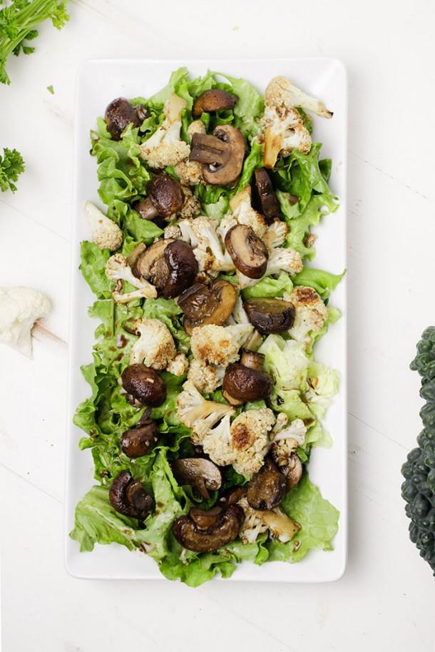Mushroom Cauliflower Salad