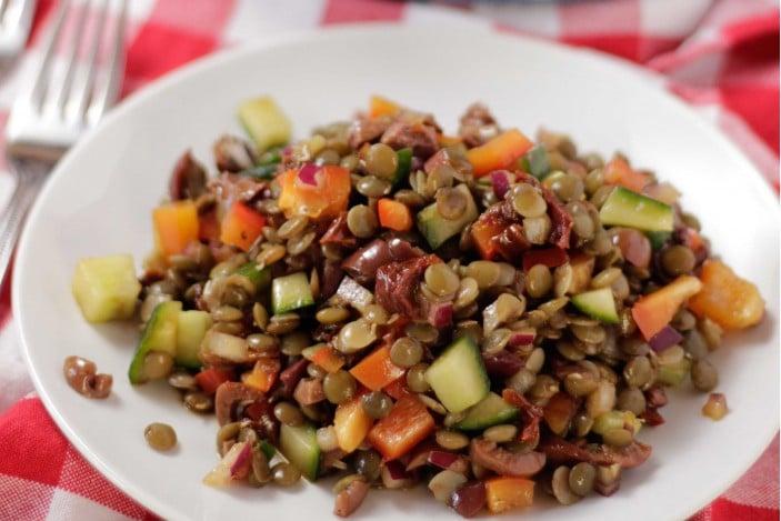 Lentil Cucumber Salad
