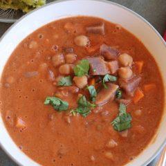 Curried Coconut Lentil Yam Soup