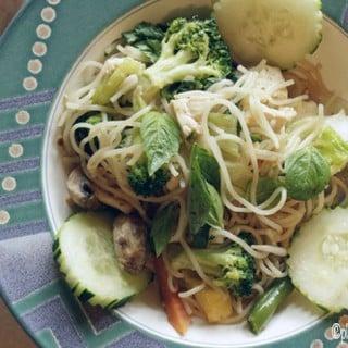 Vietnamese Tofu Noodle Bowl