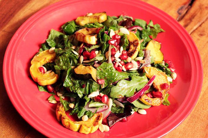 Squash-Pomegranate-Salad