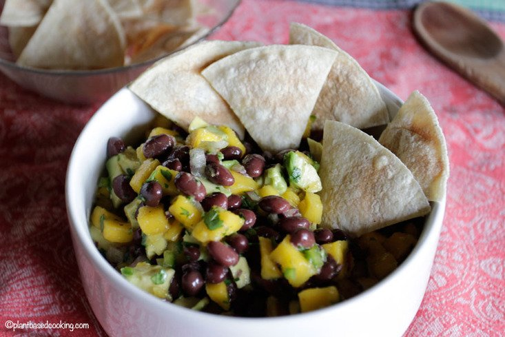 Black Bean, Mango Salsa