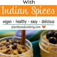 CARROT CHIA PUDDING WITH INDIAN SPICES in ramekin
