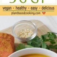 Thai Carrot Soup in white bowl