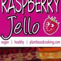 Vegan Raspberry Jello