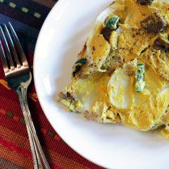 Potato Gratin with Jalapeño & Tempeh Bacon