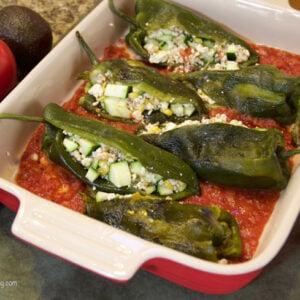 Veggie Chilies Rellenos