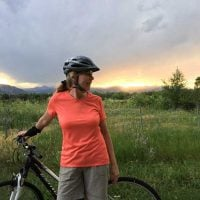 Diane on Bike
