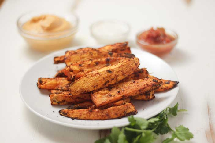 Potato Wedges Chipotle Sauce