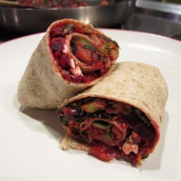 Lightly Curried Vegetable Wraps