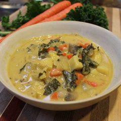 creamy potato kale soup chrop