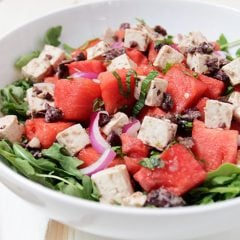 Watermelon Salad with Tofu Feta