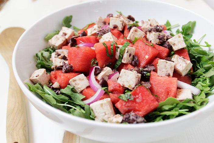Watermelon Salad with Tofu Feta