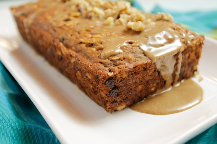 Banana Bread Maple Glaze