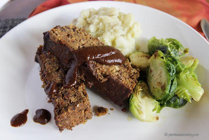 Vegan BBQ meatloaf