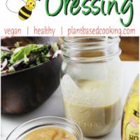 homemade honey mustard dressing salad