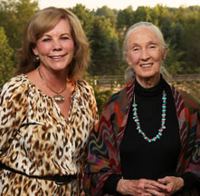 Diane and Jane Goodall
