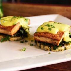 Spinach Tofu Benedict
