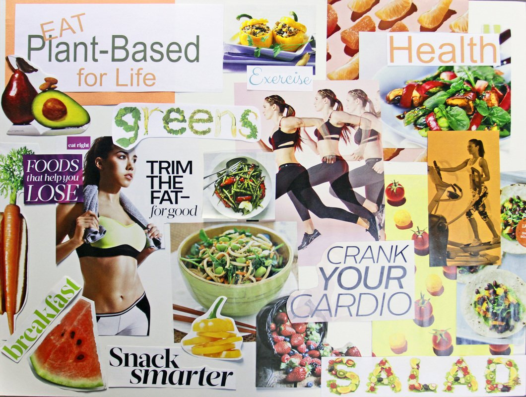 Create a Vision Board to Reach Your Goals | Plant Based Cooking