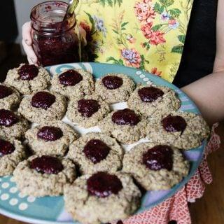 almond jam dot cookies