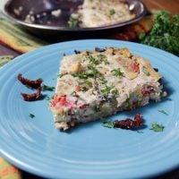 Crustless Broccoli Sun-Dried Tomato Quiche