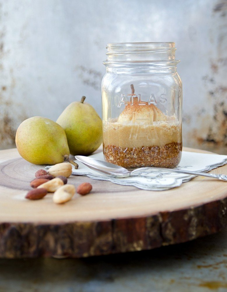 Nutty Pear Crumble