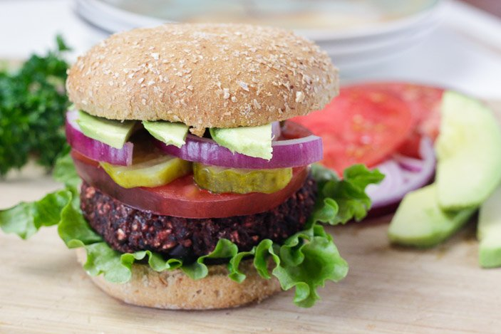 Black Bean Beet Burger