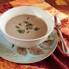 Creamy Mushroom Bean Soup