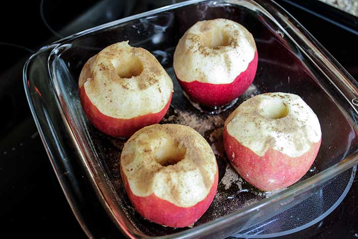 Apples ready for baking