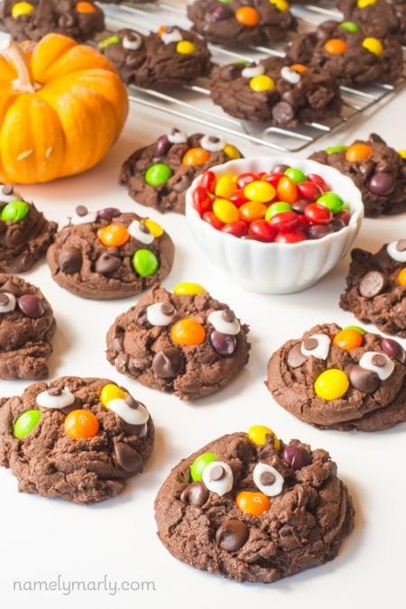 vegan halloween monster cookies
