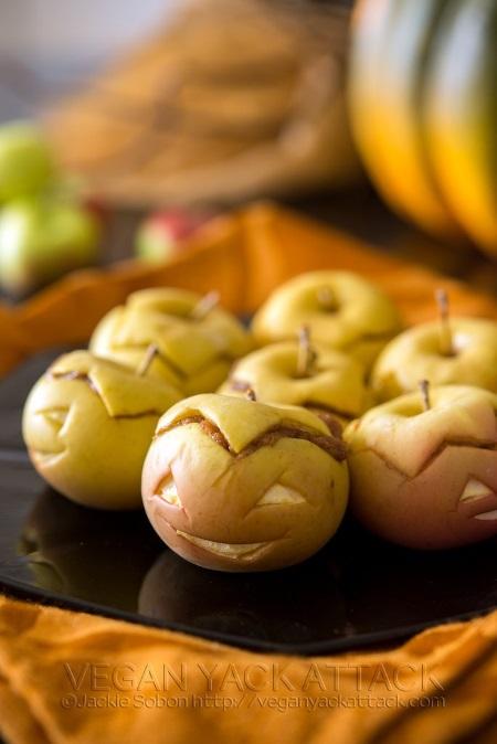 halloween peanut butter apples