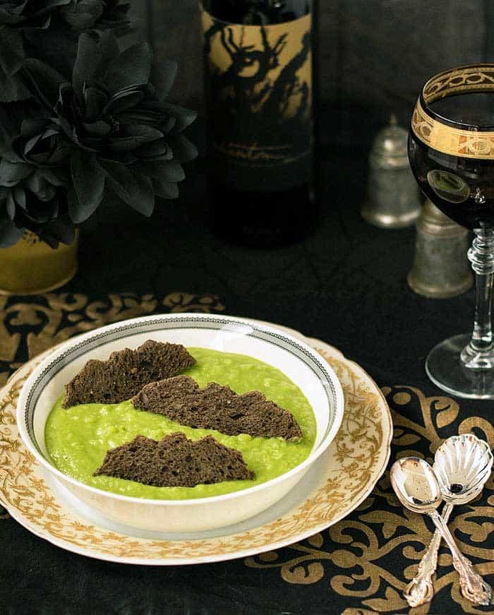 vegan halloween Ghoulishly Green Vegan Potato Soup