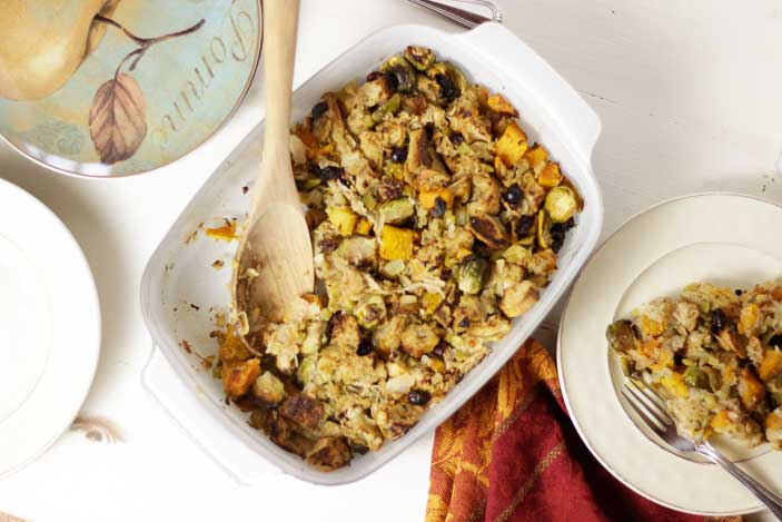 Butternut Brussels Sprouts Stuffing