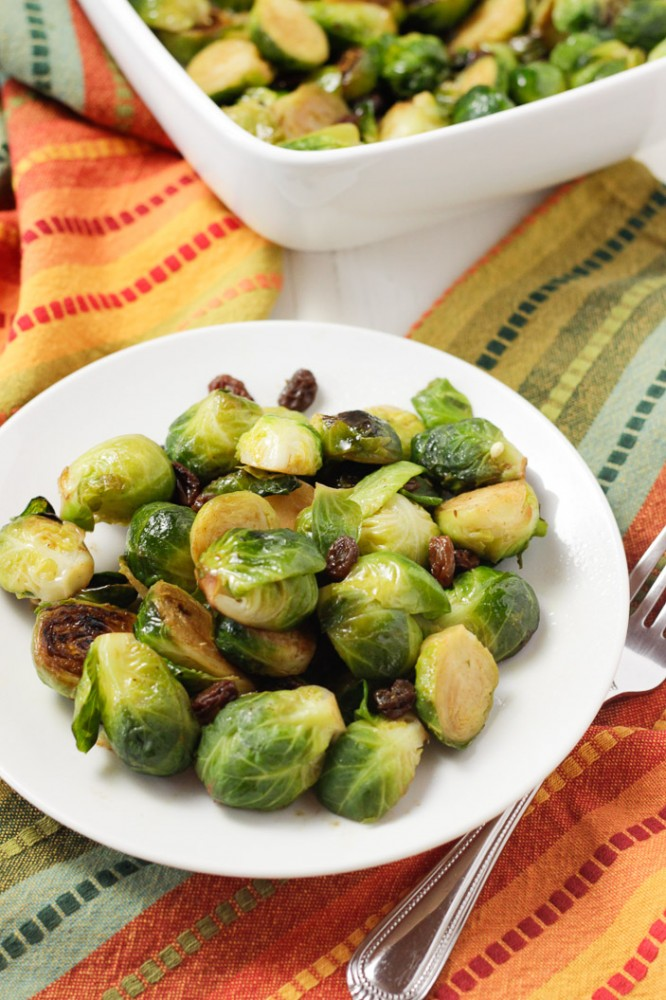 Brussels Sprouts with Raisins-2