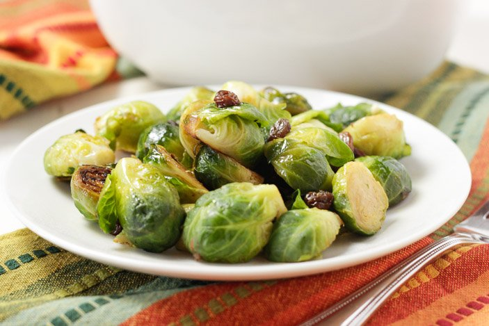 brussels sprouts with raisins