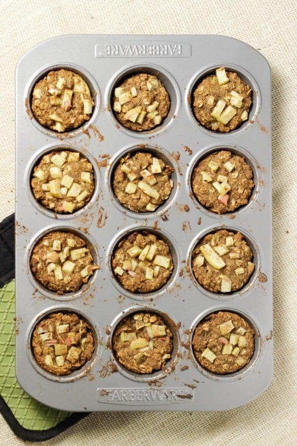 Chia Spice Apple Muffins SFW