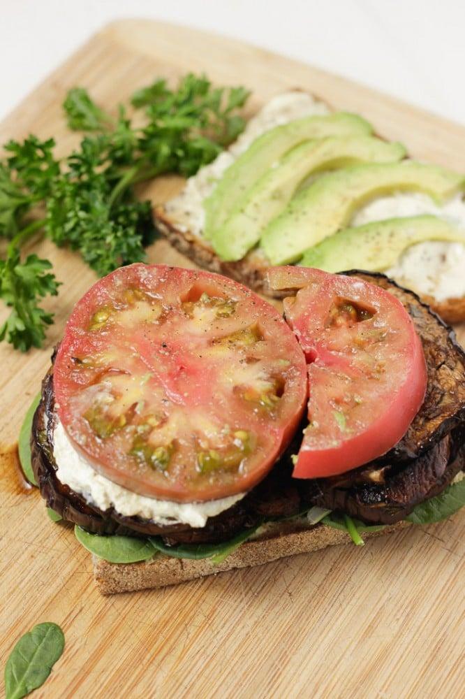Eggplant Mushroom Sandwich-4