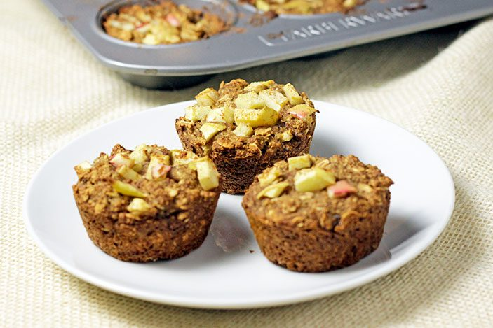 Chia Spice Apple Muffins